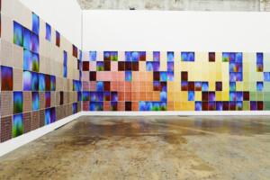 シドニーのキャリッジワークス内のアート展示