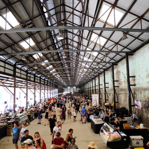 シドニーのキャリッジワークス・ファーマーズマーケット全体の様子