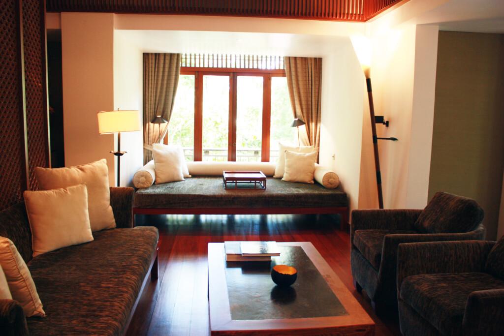 ランカウイのリゾートホテル、ザ・ダタイの客室リビング