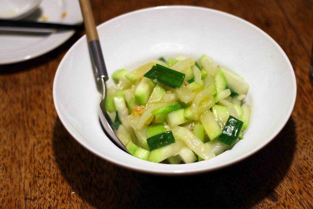 台湾野菜「胡瓜」を使った炒めもの