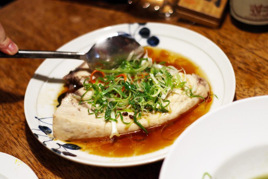 台湾の白カツオのステーキ