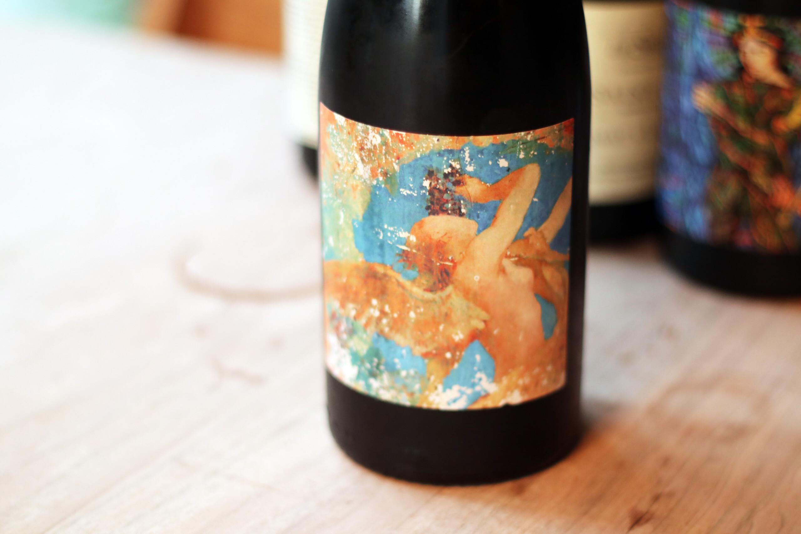 エチケットが素敵なフランスの自然派赤ワイン