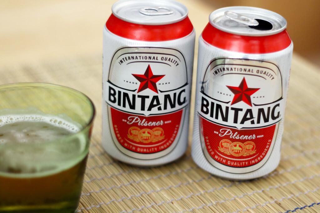 インドネシアのビンタンビール缶