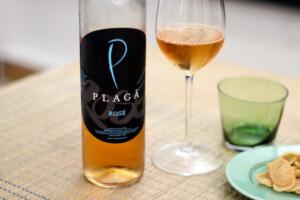 インドネシアワイン、PLAGA ロゼワインのボトル