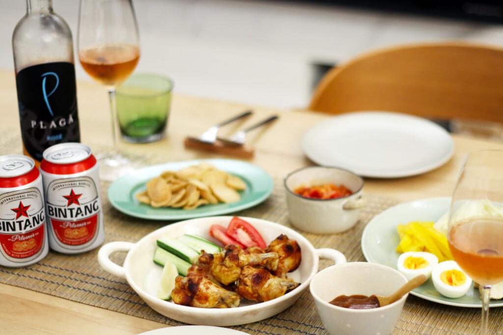 おうちでワインと楽しむ、インドネシア料理の食卓