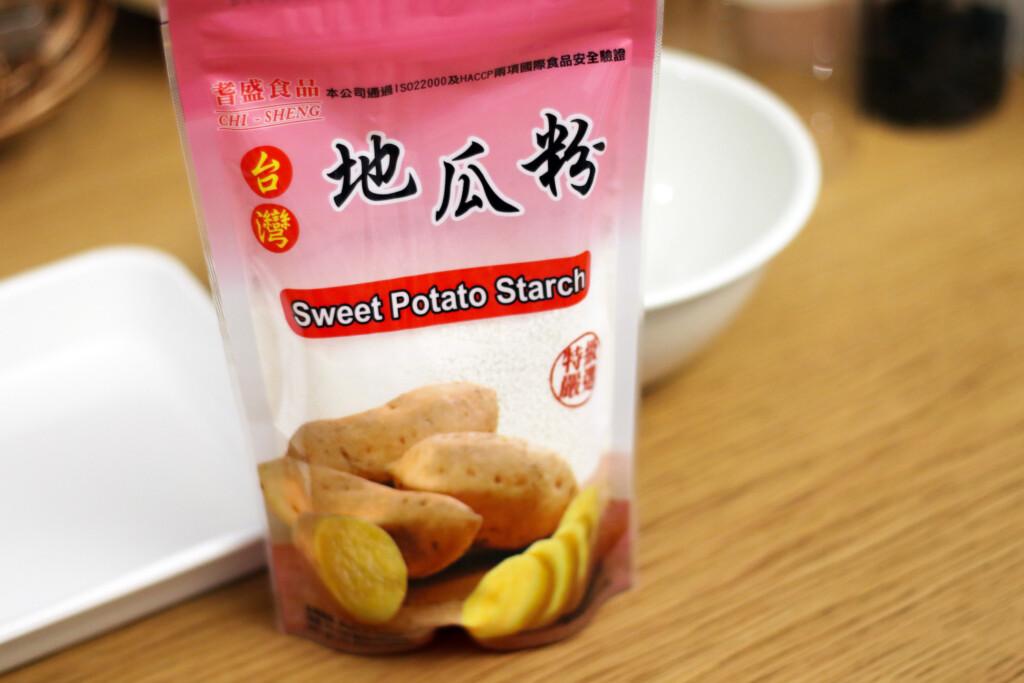 台湾の地瓜粉(さつまいも粉)のパッケージ