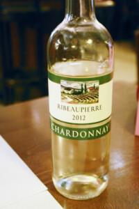 パリのあるカフェビストロで飲んだ白ワインボトル