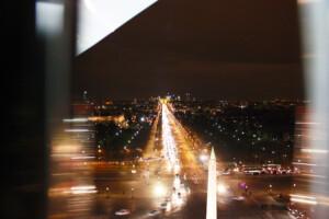 パリの観覧車から見た美しい夜景