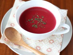 ビーツの豆乳みそポタージュスープ